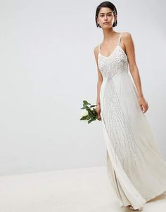 d384b89b1062e ASOS EDITION embellished cami wedding dress  ad Asos Wedding Dress