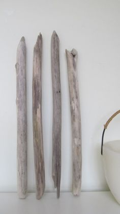 4 Strong Driftwood Pieces Long Driftwood Branches Bulk Driftwood Lot by LonelyBeach on Etsy