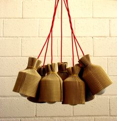 LUCY - #chandelier with #cardboard shades - #Product of #Italy - www.lab145.it - www.facebook.com/lab145