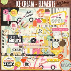 Ice Cream Elements by Just Jaimee Designs!  April's BYOC at The Lilypad!  Grab any of the BYOC before the end of the weekend and you'll save 20% off!