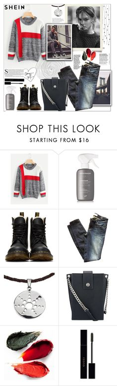 """Shein.Color Block Space Dye Jumper"" by natalyapril1976 ❤ liked on Polyvore featuring Vernon François, Dr. Martens, Marc by Marc Jacobs, NOVICA, Nine West, Rituel de Fille and Gucci"