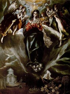 El Greco, The Virgin of the Immaculate Conception, 1605-10, oil on canvas, 108 x 82 cm., Museo Thyssen-Bornemisza, Madrid.