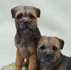 Border Terrier Sculpture