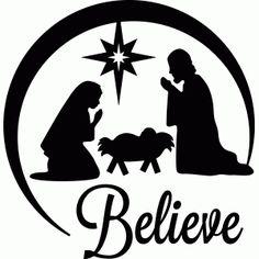 Silhouette Design Store View Design 52457 Believe Nativity
