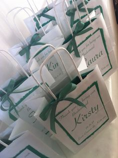 Personalised Gift Bags. Handmade to order Thank you for being our Bridesmaid, Flower Girl, Maid of Honour, Usher & Best man. Wedding Party Thank you Bags