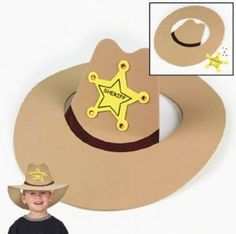 So cute for a western theme or working on /k/- could DIY! So cute for a western theme or working … Cowboy Party, Cowboy Birthday Party, Cowboy Theme, Western Theme, Kids Crafts, Preschool Crafts, Crafts To Make, Cowboy Hat Crafts, Western Crafts