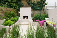Urban fireside garden 1 Charlotte Rowe copyright Clive Nichols