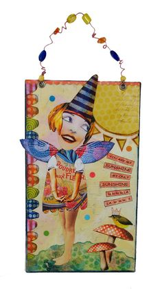 Faerie Art Whimsical Wall Art Assemblage Art by eclecticmoon, $22.50
