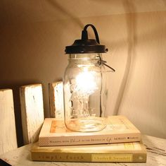 Orono II Vintage Canning Jar LAMP Created New by LampGoods on Etsy, $49.00