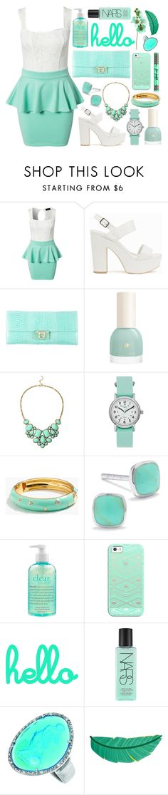 """#450"" by lost-in-a-daydr3am ❤ liked on Polyvore featuring Club L, Nly Shoes, Salvatore Ferragamo, Timex, J.Crew, Silver Treasures, philosophy, Casetify, NARS Cosmetics and Phillip Gavriel"