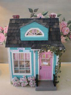 Doughnut shop custom dollhouse by cinderellamoments, via Flickr