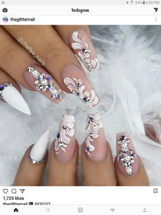 Perfect wedding nails!