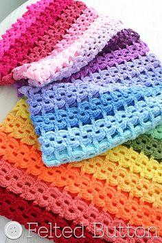 Ravelry: Pansy Parade Blanket pattern by Susan Carlson