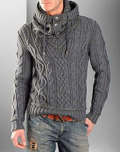eye makeup - FASHION Pullover with Cable Knit Infinity Scarf Knit pullover Knit scarf Aran pullover Mens knit sweater Aran sweater Mens clothing Sharp Dressed Man, Well Dressed Men, Pull Aran, Sweater Fashion, Men Sweater, Sweater Cardigan, Aran Jumper, Hooded Sweater, Pullover Mode