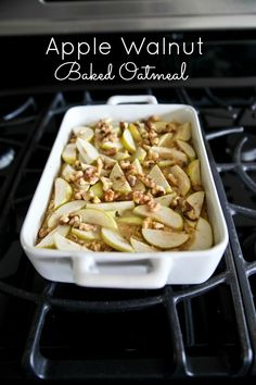 Apple Walnut Baked Oatmeal