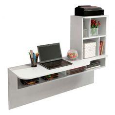 Escrivaninha Suspensa Lilac Branco Texturizado Colibri