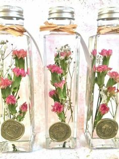 【in the bottle】carnation / pink Interior Paint Colors, Paint Colors For Home, Dried Flower Arrangements, Dried Flowers, Fun Crafts, Diy And Crafts, Flower Bottle, Perfume Making, Mini Bottles