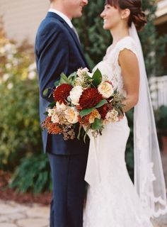 Rich fall hues: http://www.stylemepretty.com/california-weddings/solvang/2015/05/16/lovely-santa-ynez-wedding-at-lincourt-vineyards/ | Photography: Michelle Warren - http://www.mwfoto.com/