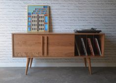 Kasse Credenza / TV Stand  Solid Cherry  12 Legs by STORnewyork