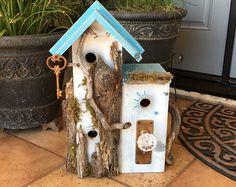 Condo Birdhouse/Large Driftwood Multilevel Birdhouse/Bird House/Post Mount Bird's House/Birdhouse/Birdhouses For Sale/ Item #477793137