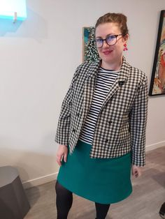Barbara Jacket - the second. Archer Shirt, Button Frames, My Tights, Rule Of Thirds, Double Breasted Jacket, Two Pieces, A Line Skirts, Free Pattern, Two By Two