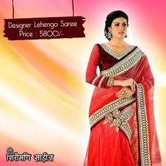 Buy the Beautiful Designer Exclusive Lehenga Saree.  #Lehenga #Saree #Shopping #Clothing #BridalSaree