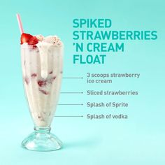 Sounds crazy, but it works—the vodka brings out the flavor of the strawberries.
