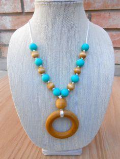 Natural Wood Sensory necklace