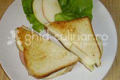 SANDVIS CU CASCAVAL, SUNCA SI MAR » Retete sandwich Sandwiches, Ethnic Recipes, Food, Meal, Eten, Meals, Paninis