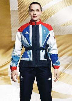 Victoria Pendleton in women's cycling kit. The official London 2012 Olympic and Paralympic Games Team GB kit, designed by Stella McCartney has been launched. Team Gb Kit, Womens Cycling Kit, Women's Cycling, Adidas Presents, Team Gb Olympics, Victoria Pendleton, Football Outfits, Uniform Design, Team Apparel