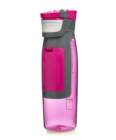 With a built-in compartment to hold keys, money and a gym card, this sturdy water bottle makes hydration even more convenient.
