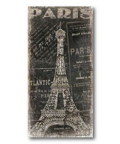 Take a look at this Vintage Paris 3 Stretched Canvas by COURTSIDE MARKET on #zulily today!