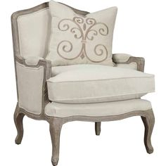 Refresh the living room or master suite with this lovely arm chair, showcasing a solid oak frame in a sand gray finish.