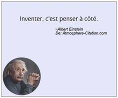 Inventer, c'est penser à côté. Trouvez encore plus de citations et de dictons sur: http://www.atmosphere-citation.com/populaires/inventer-cest-penser-a-cote.html?
