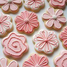 Pretty in pink. Mother's Day Cookies, Fancy Cookies, Iced Cookies, Easter Cookies, Royal Icing Cookies, Summer Cookies, Heart Cookies, Valentine Cookies, Birthday Cookies