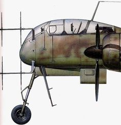 Heinkel He 219 UHU Luftwaffe Late WWII Advanced Night Fighter FAOW 119 ...