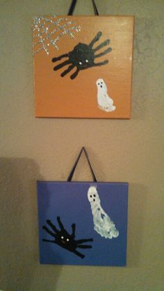 Kid halloween art....they had so much fun.