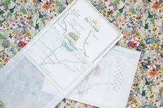 keepsake map in glassine bag with washi tape fastening lucysaysido