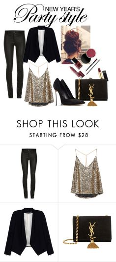 """""""New year's party in style Lookbook: outfit #1"""" by agneskaco on Polyvore featuring mode, Alice + Olivia, Yves Saint Laurent et Casadei"""