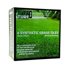 Tuff Turf 40 x Synthetic Turf Grass Tiles. to cover an ugly, flat, concrete roof Asphalt Shingles, Timber Deck, Natural Brown, Metal Roof, Garden Beds, Water Features, Garden Design, Grass, Tiles