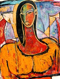 Lady In Yellow Mixed Media  - Lady In Yellow Fine Art Print