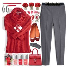 """Ballerina"" by grozdana-v ❤ liked on Polyvore featuring MANGO, kangol, Henri Bendel, Smashbox and House of Harlow 1960"