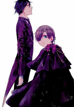Black butler/ kuroshitsuji Ciel Phantomhive + Sebastian #anime