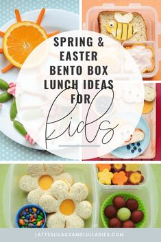 Spring Bento Box Lunch Ideas For Kids - Lattes, Lilacs, & Lullabies Lunch Box Recipes, Lunch Ideas, Sandwich Recipes, Dinner Recipes, Bottles For Breastfed Babies, Food Art For Kids, Easter Lunch, Sandwiches For Lunch, Bento Box Lunch