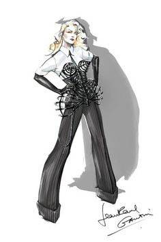 """A Jean Paul Gaultier look for Madonna's """"Vogue"""" number. This just screams badass"""