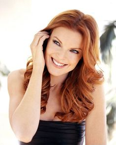 Marcia Cross copper hair