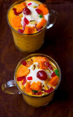 Mango Mastani Recipe, How to make Pune's Mango Mastani Easy Indian Dessert Recipes, Indian Desserts, Indian Sweets, Indian Food Recipes, Desert Recipes, Mango Recipes, Milk Recipes, How To Make Crisps, Diwali Food