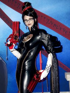 Bayonetta cosplay. Probably the best I've ever seen, because this lady looks sooo much like her >3
