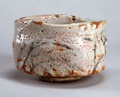 "Shino Style Tea Bowl - ""Furisode"". Circa 16th to 17th Century."