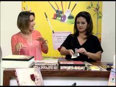 ▶ Mulher.com 11/01/2013 Marisa Magalhães - Forração de caixas com papéis decorativos de scrap 1/2 - YouTube